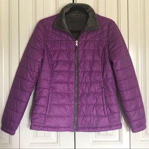 Free Country Puffy zip jacket coat pockets medium